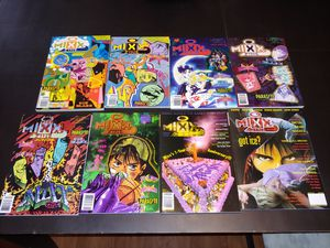 Lot of 8 Mixx Zine Manga Magazine Sailor Moon, Rayearth, Parasyte - 1997 to 1999 for Sale in Peoria, AZ