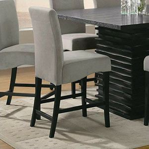 New...5pc Contemporary modern counter height dining set with table and 4 gray chair's for Sale in Boca Raton, FL