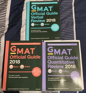 LIKE NEW GMAT Prep books for Sale in Beaufort, SC