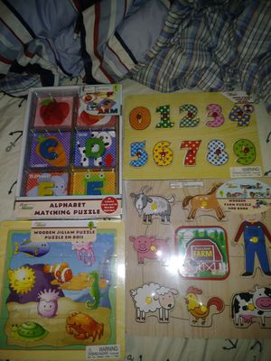 Baby puzzles and matching games for Sale in Boston, MA