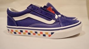 Blue Vans sneakers with checkers for Sale in Los Angeles, CA