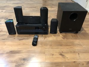 Onkyo 5.1 surround speaker system with receiver for Sale in Sterling, VA