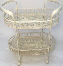 "Vintage mid century Russell Woodard spun fiberglass bar cart W 34"" x D 22"" x H 32"" for Sale in Cape Coral,  FL"