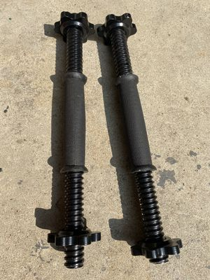 Dumbbell Handels with star clamps for Sale in Lindsay, CA