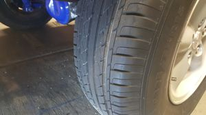 Set of 5 factory Jeep wheels w/matching spare. Excelent condition 80 -90% tread for Sale in Chandler, AZ
