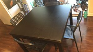 Expandable Dining Table with Chairs for Sale in Denver, CO