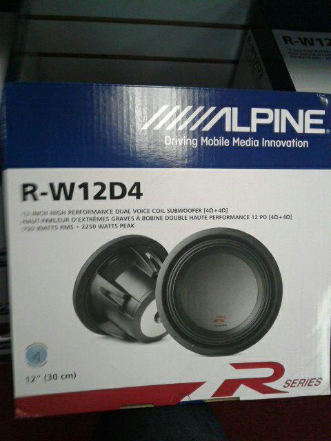 "Alpine R Series Car Audio Subwoofer Driver 12"" Inch 2250watts 4 Ohm 🚨 90 Day Payment Options 🚨 We Beat Downtown Prices"