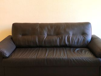 IKEA Black Faux leather Sofa / Couch for Sale in Redwood City,  CA