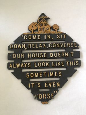 Vintage metal hot plate/trivet or wall plaque for Sale in Gaithersburg, MD