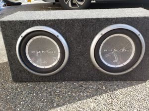 Rockford Fosgate Punch P2 two 10 inch subwoofers for Sale in Everett, WA