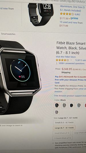 Fitbit blaze fitness watch for Sale in Rowland Heights, CA