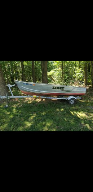 14ft boat, trailer, and motor for Sale in Hurlock, MD