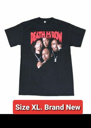 I MAIL SAME DAY - - Brand New / / size XL ● Tupac DEATH ROW Tshirt 2pac for Sale in Manchester, NH