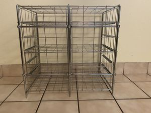 Metal rack aluminum storage shelves shelf for Sale in North Tustin, CA