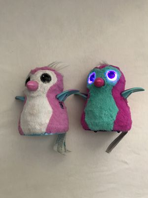 Hatchimals Talking Toys Around 5 Inches Tall Good Condition Both For $30 for Sale in Reedley, CA