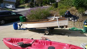 Blue water. 14ft with 5horse Evinrude for Sale in San Dimas, CA