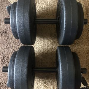 Two 20 lbs Adjustable Dumbbells for Sale in Bethesda, MD