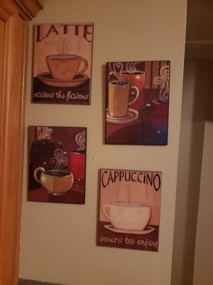 Coffee kitchen decorations for Sale in Pearland, TX
