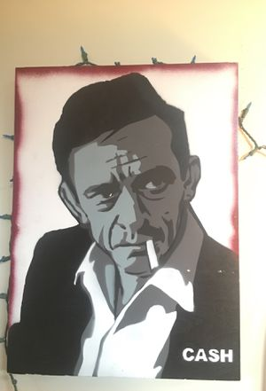 Johny cash spray paint for Sale in Redondo Beach, CA