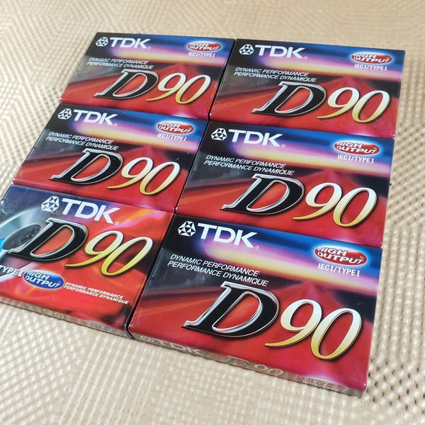 TDK D90 High Output 90 Minute IECI/Type I Cassette Tapes