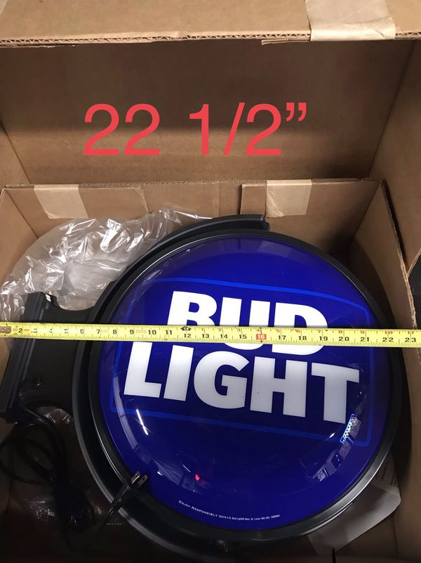 Bud Light bar sign