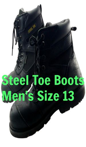 Steel Toe Men's Size 13 Work Boots Black ASTM F2413-11 Leather Uppers Herman Survivors USA Made for Sale in Willowbrook, IL