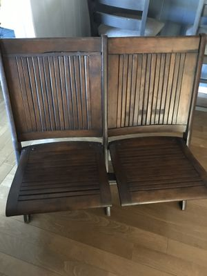 Antique theater folding wooden chair $300 for Sale in Fresno, CA