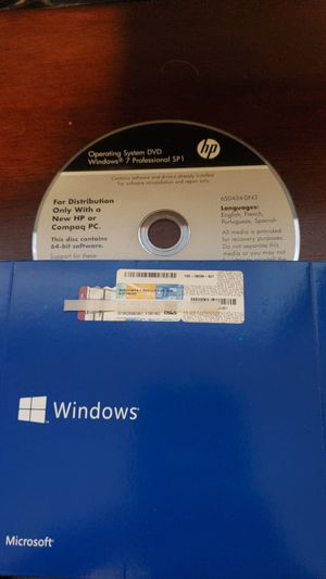Windows 7 pro OEM installer for Sale in Cheney, WA