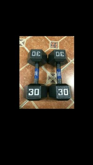 Fitness Gear 30LBx2 Dumbbells / Used For Home Gym / Crossfit / Lifting for Sale in Pompano Beach, FL