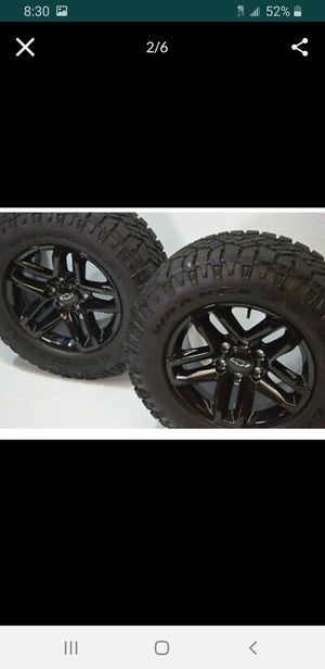 "18"" Chevy Silverado TRAIL BOSS Sierra black 2019 Factory OEM Z71 wheels rims for Sale in Solana Beach, CA"