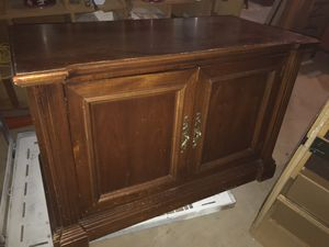 Beautiful Solid Wood Tv Stand w Shelves 45x30x22 for Sale in Fairburn, GA