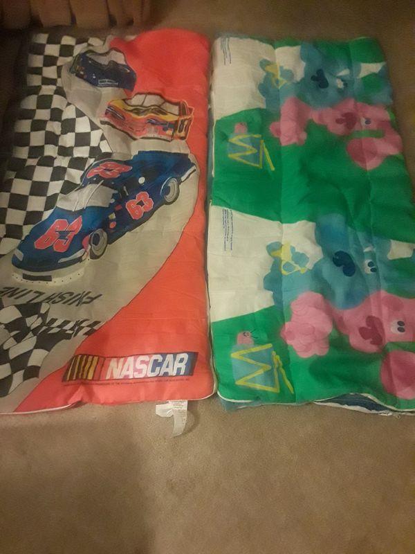 Nascar and Snoppy kids sleeping bags