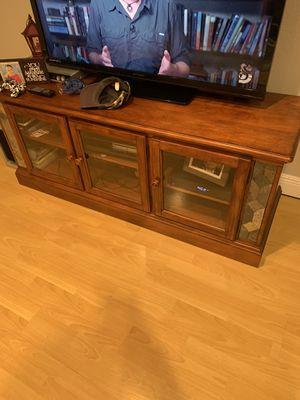 Tv stand. Real wood for Sale in Pinellas Park, FL