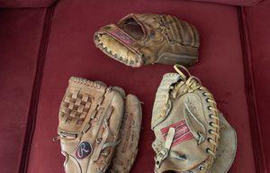 Baseball Gloves & Catchers mitt. Read description. for Sale in Valley Park, MO