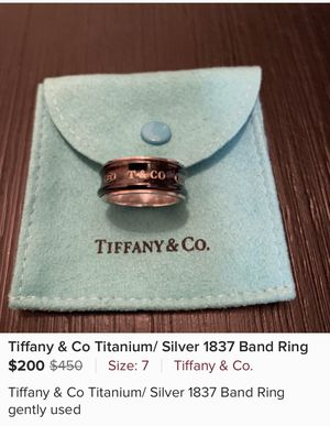 Tiffany & Co Titanium / Silver Ring for Sale in Peoria, AZ