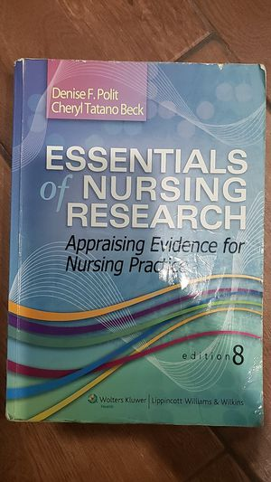 Essential of nursing research edition 8 for Sale in Meriden, CT