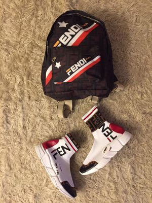 Fendi men's shoes & book bag for Sale in Hilliard, OH