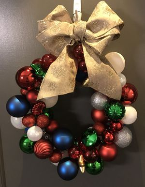 Christmas Ornament Wreath - Handmade! for Sale in Arlington, VA
