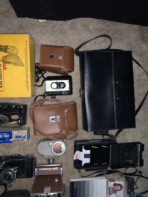 Vintage Camera/Photography Lot + Sony Digital 8 TRV 400 (doesn't work correctly) for Sale in Eastpointe, MI
