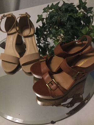 🌟(2) Pairs of SIZE (7) women's SANDALS🌟🌟🌟 for Sale in Bakersfield, CA