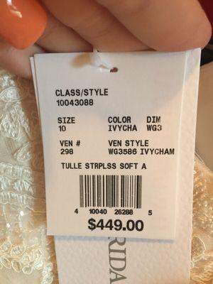 David's bridal wedding dress for Sale in Apollo Beach, FL
