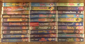 Black diamond Disney VHS collection for Sale in Spring Hill, FL