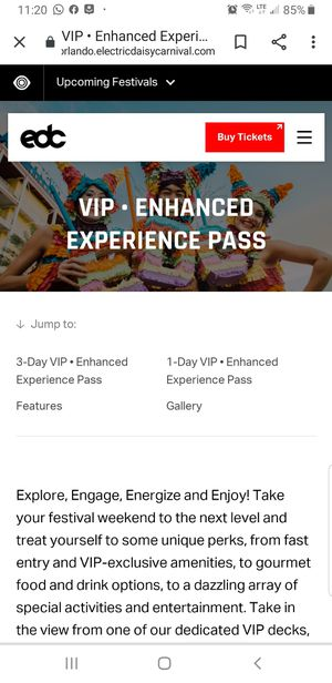 EDC ORLANDO VIP EXPERIENCE for Sale in Miami, FL