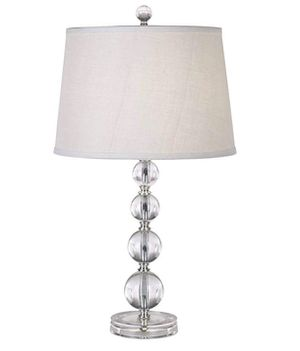 Stacked Clear Acrylic Ball Accent Table Lamp for Sale in Los Angeles, CA