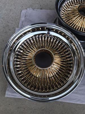 13X7 Gold wheels for Sale in Sacramento, CA