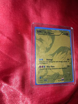 (Rare) Gold Reshiram Pokemon Card for Sale in San Diego, CA