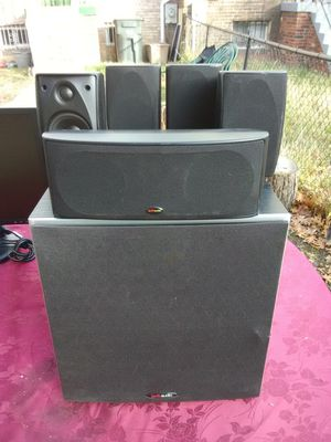 Polk Audio 5 speakers surround sound bundle with PSW10 subwoofer $350 for Sale in Washington, DC