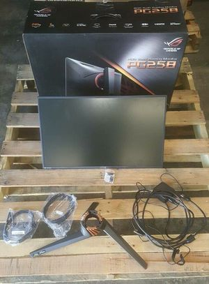 Asus ROG Swift PG258Q 240hz Gaming Monitor G-Sync Manf. Date 01/2019! for Sale in Rosemead, CA