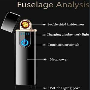 Brand New Double Sided Fingerprint Ignition Arc Lighter USB Windproof Electronic Lighter for Sale in Detroit, MI