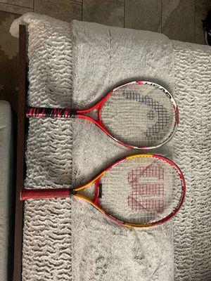 Head & Wilson Tennis Rackets for Sale in Los Angeles, CA